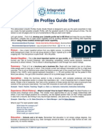 IA LinkedIn Profiles Guide Sheet 7-6-09