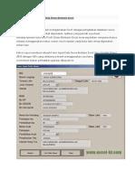 Cara Membuat Form Input Data Siswa Berbasis Excel