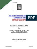 40 TS 220V 250 350 Ah Plante Type Lead Acid Battery Sets