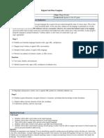 digital unit plan- spanish