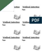 Workbook Instructions