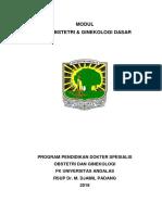 Modul USG Obstetri Ginekologi Dasar Untuk Residen