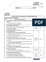 41A15 Function & Interlock Test Record Sheet for HRSG Tag 10- CPH System