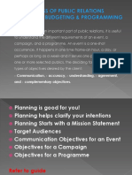 5 - THE PROCESS OF PUBLIC RELATIONS PLANNING, BUDGETING.pptx
