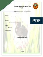 Informe 2 Preparacion Del Suelo Agricola