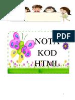 Nota Kod HTML