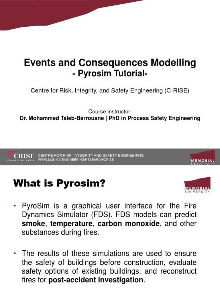 2 5 Pyrosim Tutorial (2) | Fires | Engineering