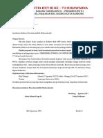 Surat Pengantar Proposal HUT RI KE 73