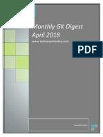 Monthly GK Digest April 2018