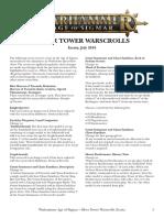 Age of Sigmar Silver Tower Warscrolls Errata En