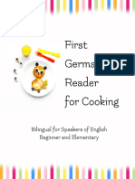 First German Reader for Cooking Bilingual for Speakers of English  Beginner Elementary (A1 A2)