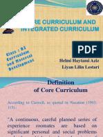 Core Curriculum and Integrated Curriculum