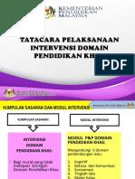 Tatacara Pelaksanaan Intervensi Domain Pendidikan Khas