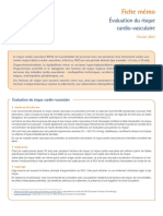 Fiche Memo - Evaluation Du Risque Cardiovasculaire