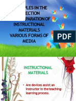 Principles in the Selection of Instructional Materials