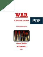 WAR Rules and Almanac 1.1