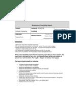 assignment feasibilty