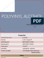 Poly(Vinyl Alcohol) B.Tech Polymer Science