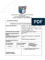 Formato Informe Final 2018 I RS
