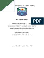Diagrama de Pareto y Diagrama Causa Efecto Control de Calidad 4 Sem[1]