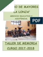 Taller Memoria 2017-2018