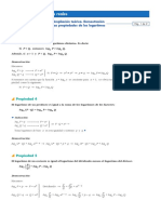 demostraciones -logaritmacion