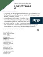 Que Es La Subjetivacion Neoliberal - Jorge Aleman