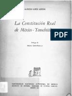 Lopez Austin - La Constitución Real de México Tenochtitlan