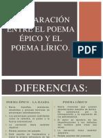 Comparación Entre El Poema Épico y El Poema Lírico.