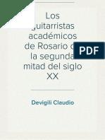 Devigili Claudio - Los Guitarristas Académicos de Rosario de La Segunda Mitad Del Siglo XX 31 a 37