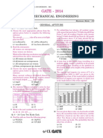 GATE ME 2014 Actual Paper