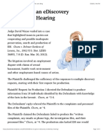 How to Get an eDiscovery Evidentiary Hearing