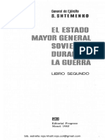 Shtemenco Serguei El Estado Mayor General Sovietico Durante La Guerra -Libro 2