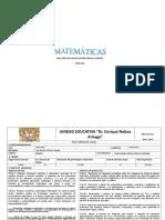 Planificacion Anual Matematicas10ºEGB Brayan Ll