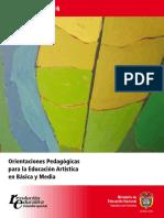 Documento No. 16. Orientaciones Pedagógicas para la Educación Artística en Básica y Media