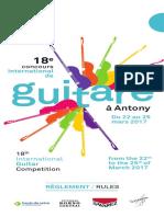 Règlement concours International guitar competition 2017