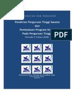 Pedoman Pendirian Pembukaan Prodi 2018 periode 3 (Juli - Agustus 2018)