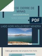 Plan de Cierre de Minas BOLIVIA