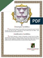 Carta de armas de heráldica.