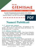 Hygenisme Numeri Pubblicati Int