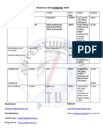 Adventure Club Schedule