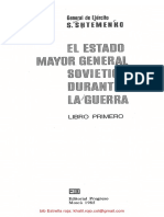 Shtemenco, Serguei El Estado Mayor General Sovietico Durante La Guerra -Libro 1