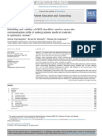 Reliability and Validity of OSCE Checklists Used to Assess The