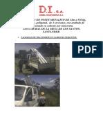 Instalacion Poste Metalico- Zona Rural