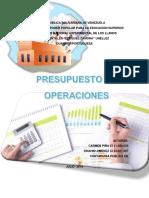 Presupuesto de Operaciones Modulo III