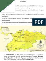 actividad de clase sobre historia de Colombia