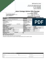 Declaration Cartage Advice With Receipt - B00056774 (1)