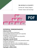 Potential Terrorist agents (Bioterrorism)