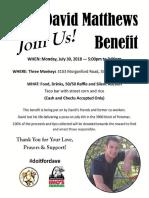 David Matthews Benefit
