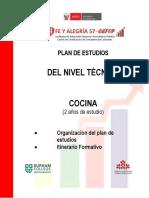 CEFOP Perú-Fe y Alegria Plan de Estudios Cocina